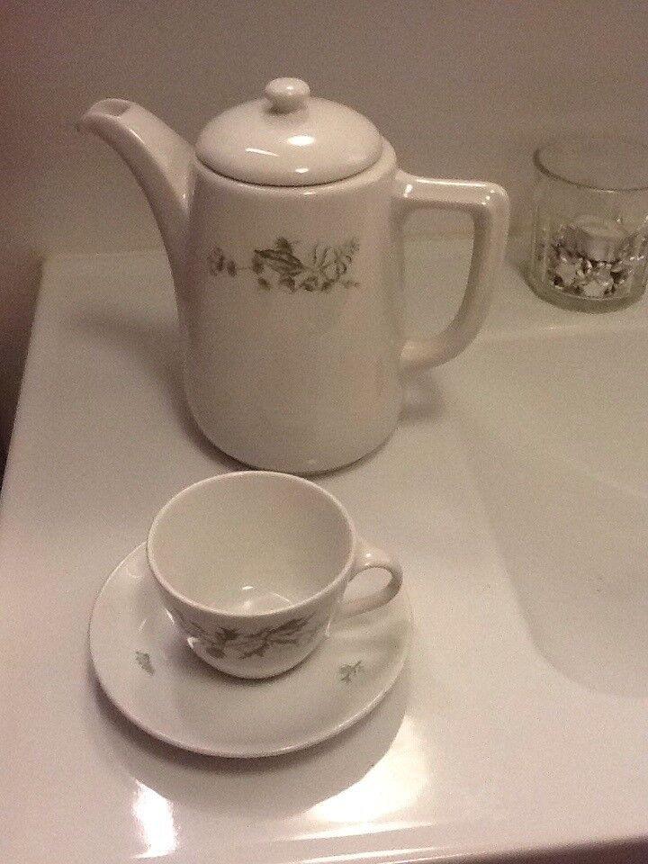 Porcelæn, Kaffekande og kop, Royal Copenhagen