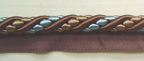"BUF342-12694 1//2/"" Cording Trim Brown Aqua Blue Natural Match tassel Fringe Gimp"
