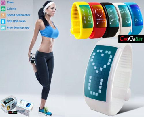 goldlogio iWatch 8Gb Sport Fitness Computer 3D ContaPassi Calorie Trainer Win Mac