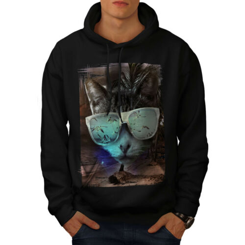 Hoodie Black Wellcoda Sweatshirt New Hooded Gafas Casual Mens 00E1wz