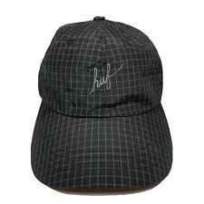 New HUF Flynn Black Print Strapback Mens Six Panel Hat