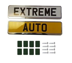"""2 x /""""CHROME/"""" EFFECT NUMBER PLATE HOLDER SURROUND CAR"""