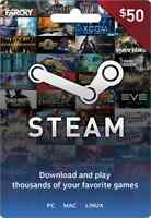 Steam Gift Card $50 - mail delivery