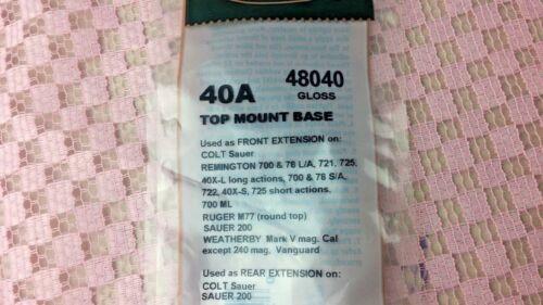 Remington 48040 noir brillant #6 Weaver Top Mount Base 40 A BSA Monard