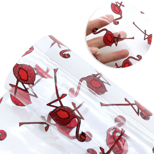 20*34cm hoja impresa transparentes imitación de cuero de cuero tapicería de vinilo Hazlo tú mismo