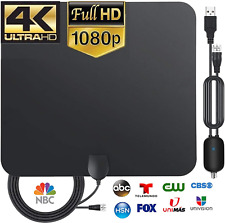 2021 Newest Amplified Digital Antenna for HDTV Up to 120 Miles Range,Powerful Amplifier Signal Booster TV Antenna Indoor Digital HD by TGVis 4K 1080P UHF VHF Free HDTV Channels 14ft Cable