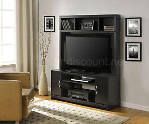 42 Quot Hutch Tv Stand Black Entertainment Center Media