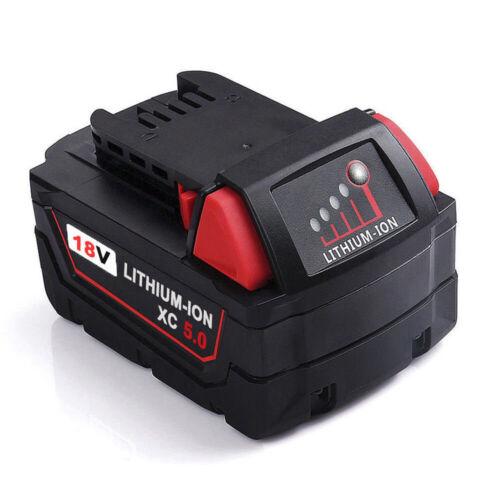 18V 5.0Ah Lithium Battery For Milwaukee 48-11-1860 M18B5 XC 5.0 48-11-1852 M18B6