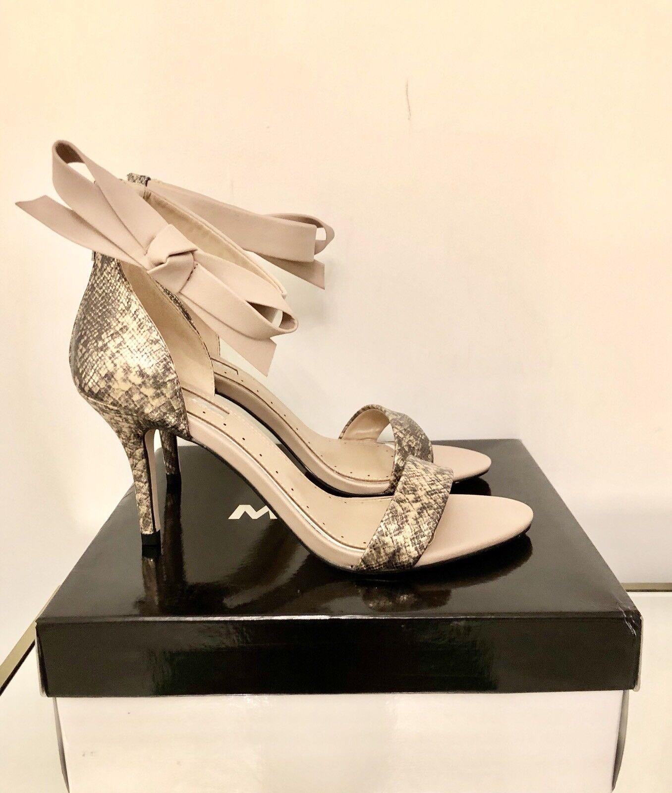Kurt Geiger Nude Ankle Bow High Heel Sandals Größe 6 6 6 EU 39 Miss KG Gabby New 3ece84