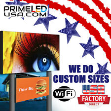 Double Sided Led Sign Full Color P10mm Outdoorindoor 2525 H X 505 W Wifi