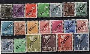 Germany Berlin 1948 black Overprint mint MH set MI #1-20 WS23905