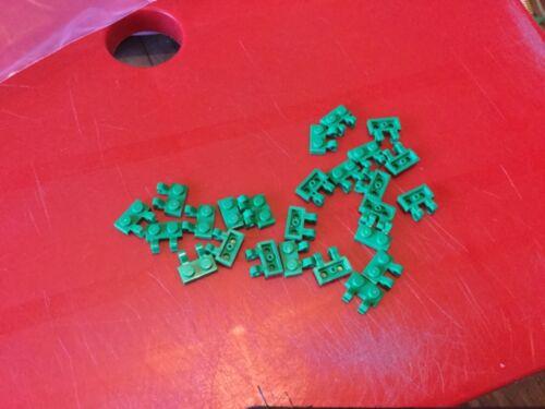 25 x LEGO 60470b 1x2 THICK OPEN O CLIP GREEN FREE P /& P