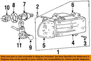Dodge CHRYSLER OEM Headlight Head Light Lamp-Support Panel Right 68005394AA