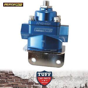 Aeroflow-Blue-Billet-Bypass-Carby-Fuel-Pressure-Regulator-FPR-4-5-9-PSI-3-8-034-NPT