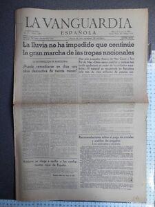 PERIoDICO-GUERRA-CIVIL-LA-VANGUARDIA-31-ENERO-1939-TOMA-ARENYS-DE-MAR-CANET-SA