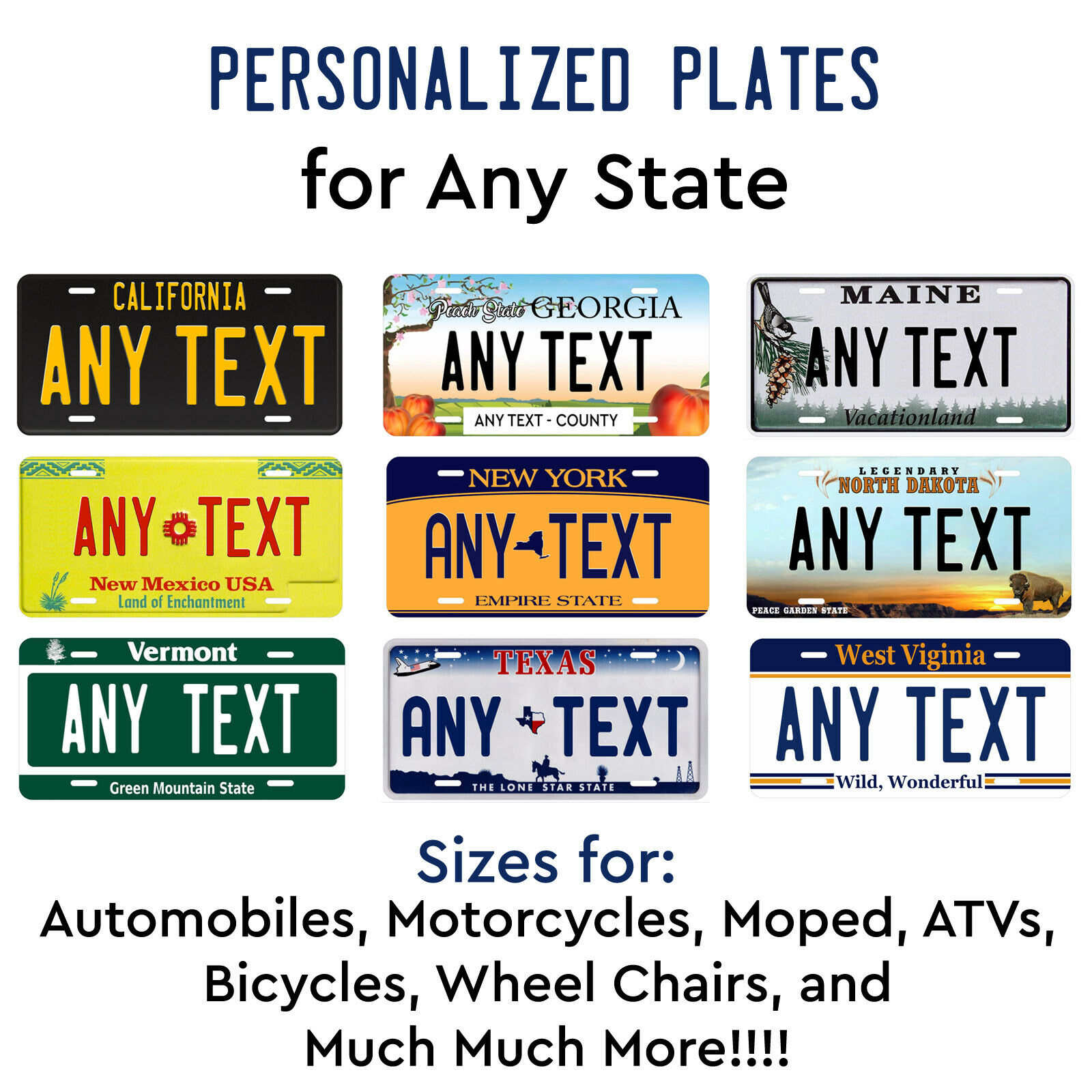 CUSTOM PERSONALIZED ALUMINUM BICYCLE MINI STATE LICENSE PLATE-INDIANA 2012