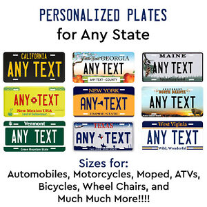 Personalized-Custom-License-Plate-Tag-for-Any-State-Auto-Car-Bicycle-ATV-Bike