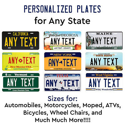 New Mexico Personalized Custom License Plate Car Motorcycle Bike BLACK