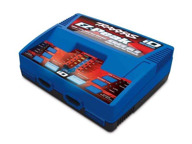 Traxxas dual ez-peak plus 2x4-amp NiMH lipo rápimujerte de cargador-con ID AKK - 2972g