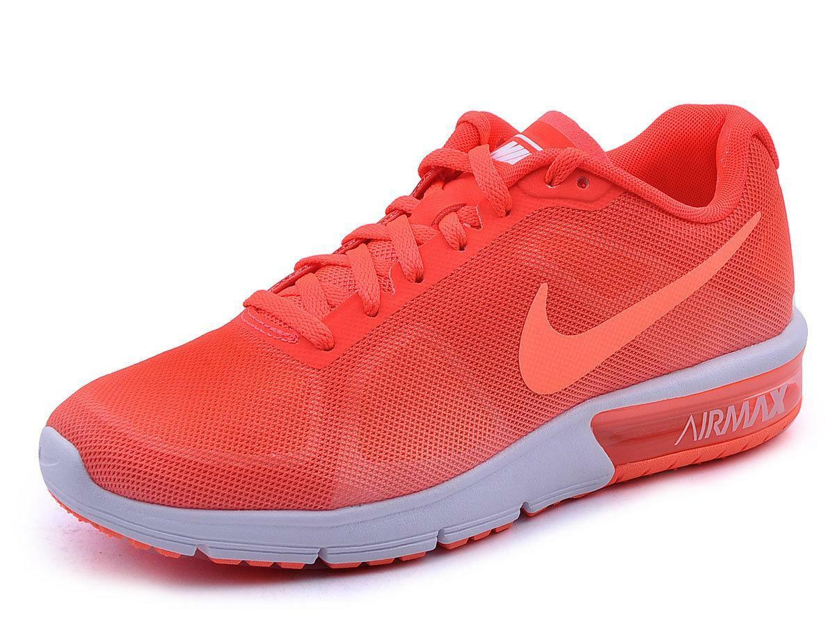 Mujer Nike Air Max Sequent Atletismo Brillante Brillante Brillante Mango Zapatillas 719916 801 63156f