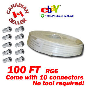 100-FT-RG-6-SATELLITE-COAX-CABLE-RG6-COAXIAL-HDTV-WIRE-60-BRAIDED-10-CONNECTORS