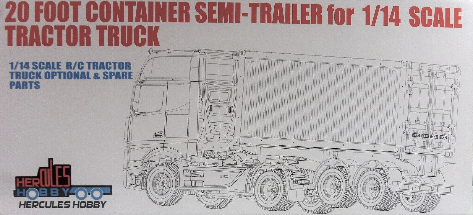 20 Foot Bogie Container Trailer Container For Tamiya 1 14 Rc Semi Trailers For Sale Online