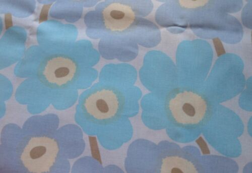 Marimekko Mini Unkko, light oil cloth fabric, baby blue, Finland, fat quarter