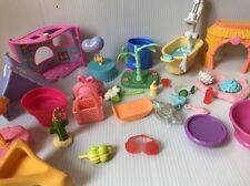 Littlest Pet Shop Assorted Lot 25 Pieces Housings Tub Spa Set No Pets LOOK