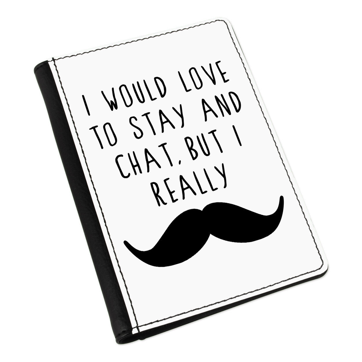 J'aimerais Rester et Chat Moustache Moustache Moustache Porte-passeport Cover Case-Drôle 4263f2