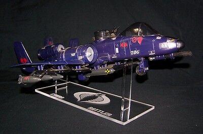 GI Joe Cobra Sky Striker Rattler Tomahawk All Ships Acrylic Display Stand Medium