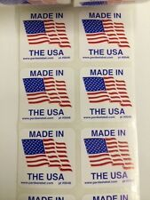 250 Made in the USA 1.25 x 1.25Label Labels Stickers Made in the USA eBay Labels