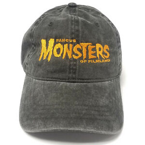 Famous-Monsters-Embroidered-Dad-Hat-Black-w-Orange-Logo-OSFA