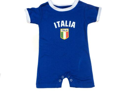 Italia Baby Bodysuit Kids Infant Soccer Futbol Flag Jersey T-Shirt Gift Cotton