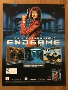 Endgame-PS2-Playstation-2-2002-Vintage-Video-Game-Poster-Ad-Print-Art-Official