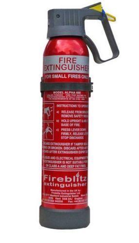 Fireblitz Alpha 600 fire extinguisher 600g B&C classification Caravan/Motorhome
