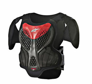 Alpinestars-MX-Motocross-A-5-S-Youth-Body-Armour-Chest-Back-Protector-Black-Red