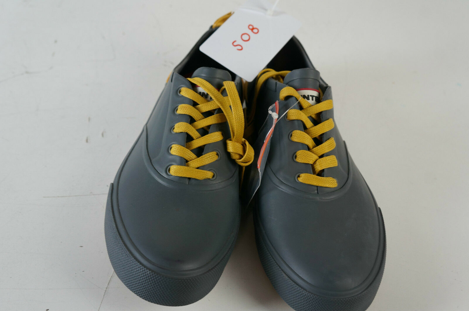 HUNTER Sneaker Gummi grau Details gelb  UK 5 EUR 38 508