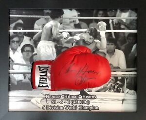 Dome Framed Thomas Hitman Hearns Signed Everlast Boxing Glove See Proof Coa Ebay