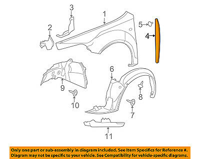 Chevrolet GM OEM 08-12 Malibu-Front Fender Liner Splash Shield Left 20830624