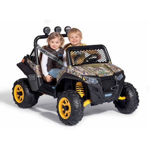 Kids Battery Powered Car 12-Volt Girls Ride-On Electric Camo Camo Camo Ranger Jeep RZR Toy b44362