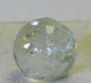 #10828m Vintage German Handmade Mica Marble Ghost Core Large Peices Mica .65 In