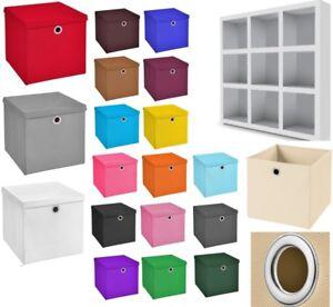 10 Stuck Aufbewahrungsboxen Deckel Korb Einschubkorb Faltbox