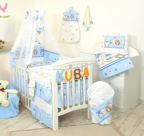 3 Piece Bedding for Baby//Toddler Bumper+Duvet Cover+Pillowcase Cot//Cot bed