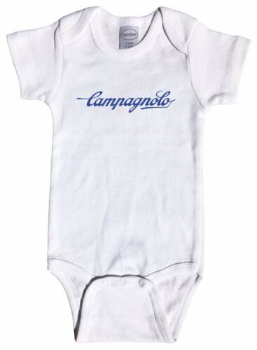 Cycling Cinelli Campagnolo Script Baby Infant One Piece Short /& Long Sleeve