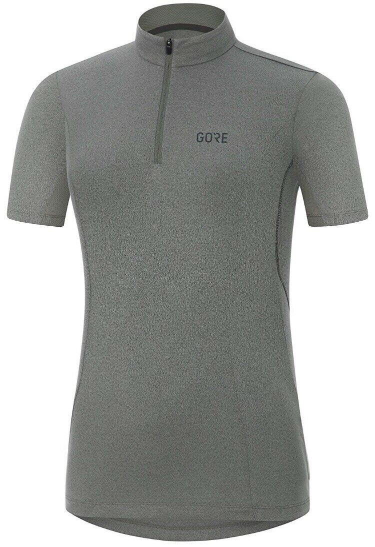 Gore Womens Cycling C3 Jersey Short Sleeve Size 38 M Med  Castor Grey Melange