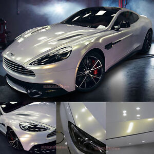 Pearl White Car Paint.Details About Diy Glossy Entire Car Wrap Pearl White To Gold Chameleon Vinyl Film Sticker Ab