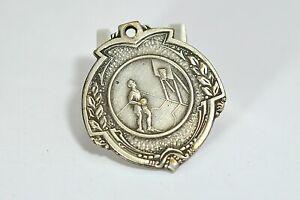 Vintage-Versilbert-Damen-S-Basketball-Medaille-1954-x5255