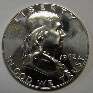 1962 Silver Proof Ben Franklin Half Dollar Flashy Gem Example    DUTCH