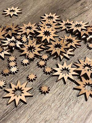 100 Streudeko Holz Tischdeko Basteln Stern Sterne Set Deko  Weihnachten Xmas