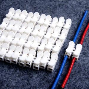 Universal-Car-Cable-Connector-Quick-Splice-Lock-Wire-Terminals-Self-Locking-Top